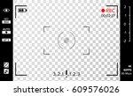 camera viewfinder vector.... | Shutterstock .eps vector #609576026
