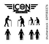 elder people icon | Shutterstock .eps vector #609583376