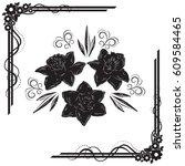 a beautiful bouquet of... | Shutterstock .eps vector #609584465