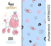 watercolor birthday greeting...   Shutterstock .eps vector #609586322