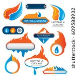 heating and cooling company ... | Shutterstock .eps vector #609588932