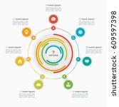 vector infographic template... | Shutterstock .eps vector #609597398
