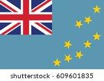 the national flag of tuvalu... | Shutterstock .eps vector #609601835