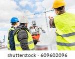 shipbuilding engineers... | Shutterstock . vector #609602096
