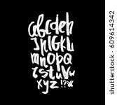 english alphabet. black and... | Shutterstock . vector #609614342