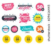 sale shopping banners. special... | Shutterstock .eps vector #609616445