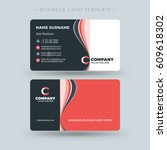 double sided business card... | Shutterstock .eps vector #609618302