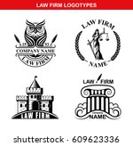 law firm logotypes with goddess ... | Shutterstock .eps vector #609623336