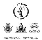 law firm logotypes with goddess ... | Shutterstock .eps vector #609623366