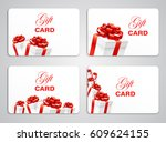 gift card with present boxes...   Shutterstock .eps vector #609624155