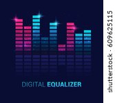 music equalizer | Shutterstock .eps vector #609625115