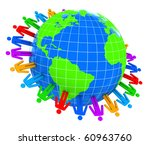 people around world   Shutterstock . vector #60963760