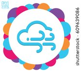 weather icon. flat style for...   Shutterstock .eps vector #609639086