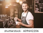 flare against portrait of... | Shutterstock . vector #609642206