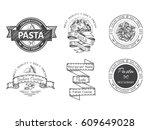 branding italian restaurant.... | Shutterstock .eps vector #609649028