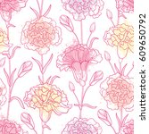 vector seamless pattern with... | Shutterstock .eps vector #609650792