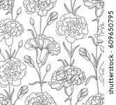 vector seamless pattern with... | Shutterstock .eps vector #609650795