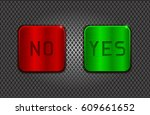 yes and no buttons on metal... | Shutterstock .eps vector #609661652
