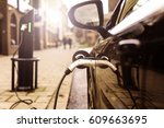 electric vehicle is changing in ... | Shutterstock . vector #609663695