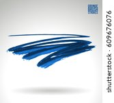 brush stroke and texture.... | Shutterstock .eps vector #609676076