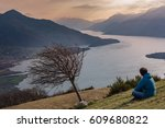 man alone in his thoughts | Shutterstock . vector #609680822