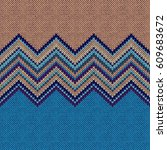 seamless ethnic geometric...   Shutterstock . vector #609683672