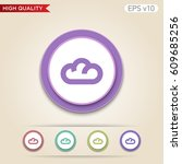 cloud icon. button with cloud... | Shutterstock .eps vector #609685256
