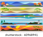 colourful web banners with an... | Shutterstock .eps vector #60968941