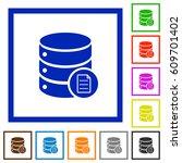 database properties flat color... | Shutterstock .eps vector #609701402