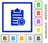 note timer flat color icons in... | Shutterstock .eps vector #609701546