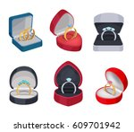 set of gold and silver rings in ...   Shutterstock .eps vector #609701942