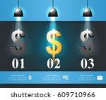 3d infographic design template... | Shutterstock .eps vector #609710966
