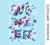 Winter Typography Design With...