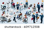 people isometric 3d  the big... | Shutterstock . vector #609712508