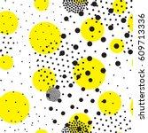 vector geometric seamless... | Shutterstock .eps vector #609713336