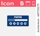player ui vector flat icon