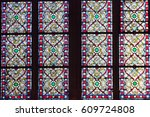 stained glass windows of the... | Shutterstock . vector #609724808
