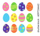 decorated easter eggs | Shutterstock . vector #609726662