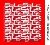 sale banner   different depth... | Shutterstock .eps vector #609727412