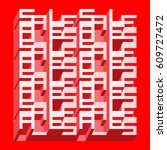 sale banner   different depth... | Shutterstock .eps vector #609727472