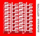 sale banner   different depth... | Shutterstock .eps vector #609727496