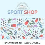 circular concept of sports...   Shutterstock .eps vector #609729362