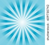 abstract bright blue cyan rays...   Shutterstock .eps vector #609730742