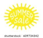 summer sale. white background | Shutterstock . vector #609734342