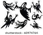 black ghosts   Shutterstock .eps vector #60974764