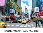 new york city  manhattan  oct... | Shutterstock . vector #609752102