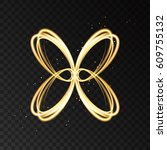 Golden  Neon Abstract Butterfl...