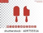ice cream icon vector...   Shutterstock .eps vector #609755516