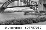 metal structure of sydney... | Shutterstock . vector #609757052