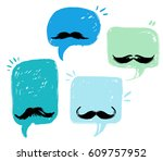happy father's day. dad... | Shutterstock .eps vector #609757952